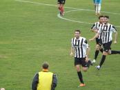 La gioia di Schioppa per la rete dell'1-0 sull'Agropoli