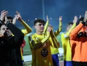 Le lacrime di orgoglio di Piergiorgio Falivene al termine del match con il Savoia